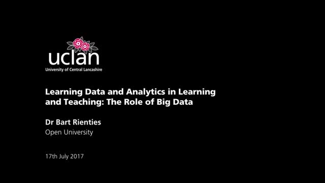 Learning Data and Analytics in Learning and Teaching