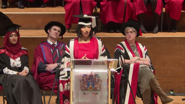 Inauguration of UCLan's new Chancellor Ranvir Singh and Vice-Chancellor Mike Thomas