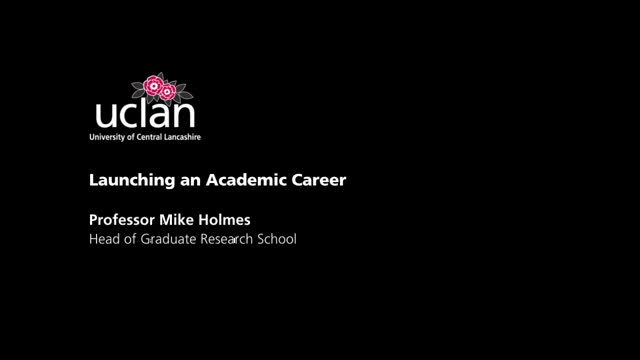 Launching an Academic Career